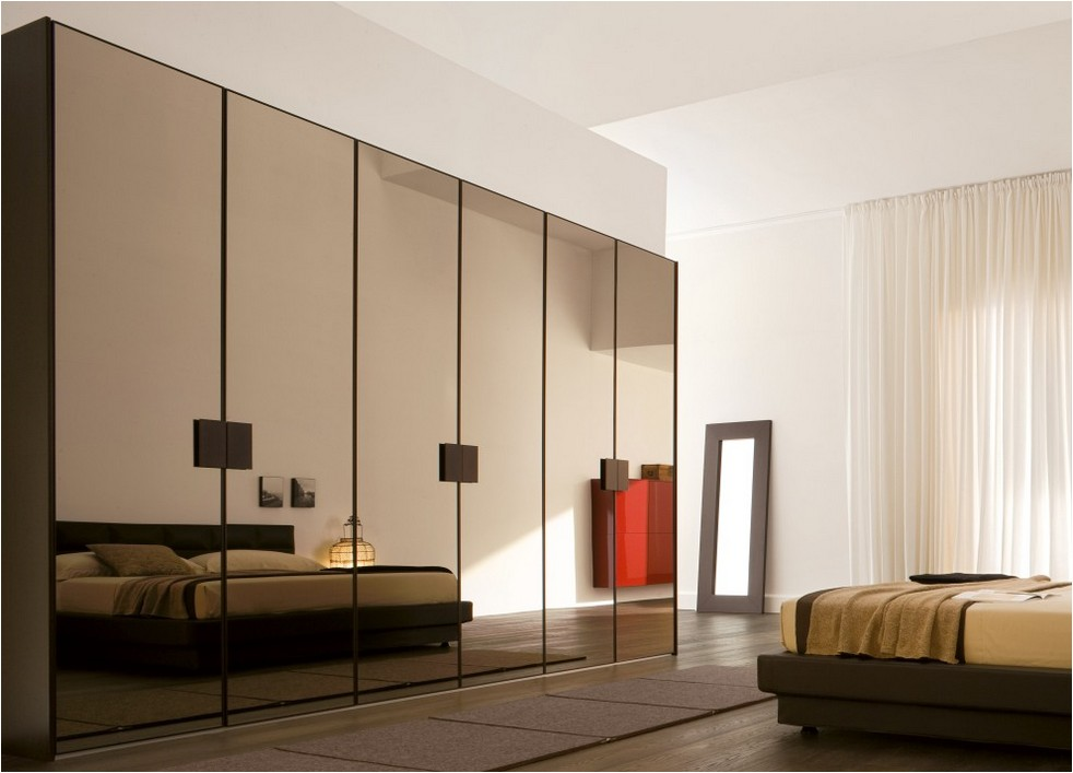 Chic Modern Bedroom Cabinet Wardrobe Bedroom Furniture Design Cabinet Mirror For Modern