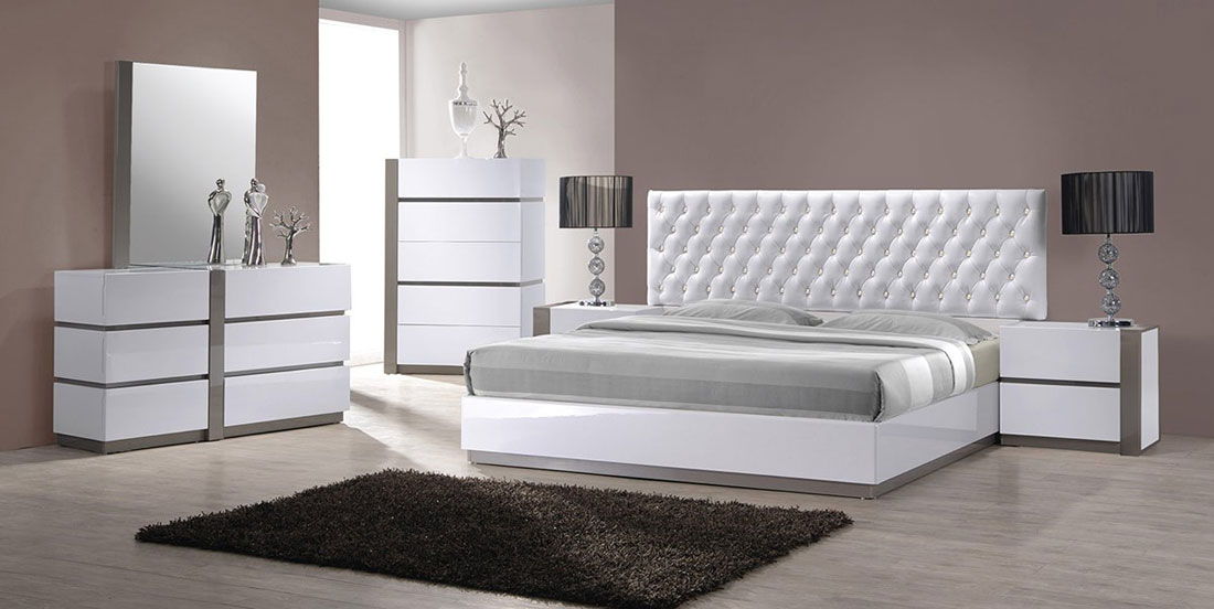 Chic Modern Bedroom Furniture Sets Mirabelle Modern White Tufted Bedroom Set Contemporary Bedroom