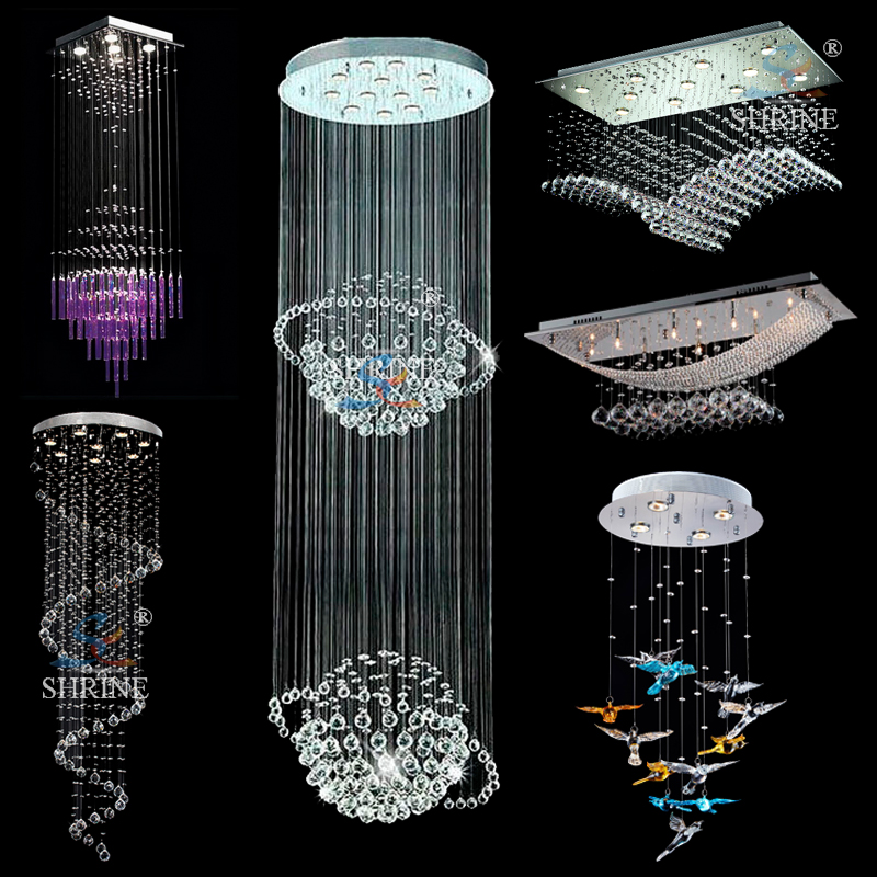 Chic Modern Crystal Chandelier Modern Led Lighting Lamps Large Crystal Chandelier With Ce