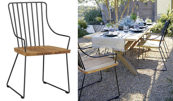 Chic Modern Metal Outdoor Chairs Metal Outdoor Furniture