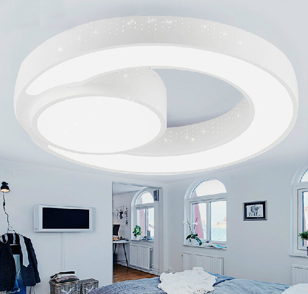 Chic Modern Round Ceiling Light 30w 45cm Modern Ceiling Light Brief Circle Q Shape Ceiling Light