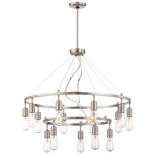 Chic Nickel Chandeliers Lighting Fixtures Brushed Nickel Chandeliers On Sale Up To 50 Off Retail Bellacor