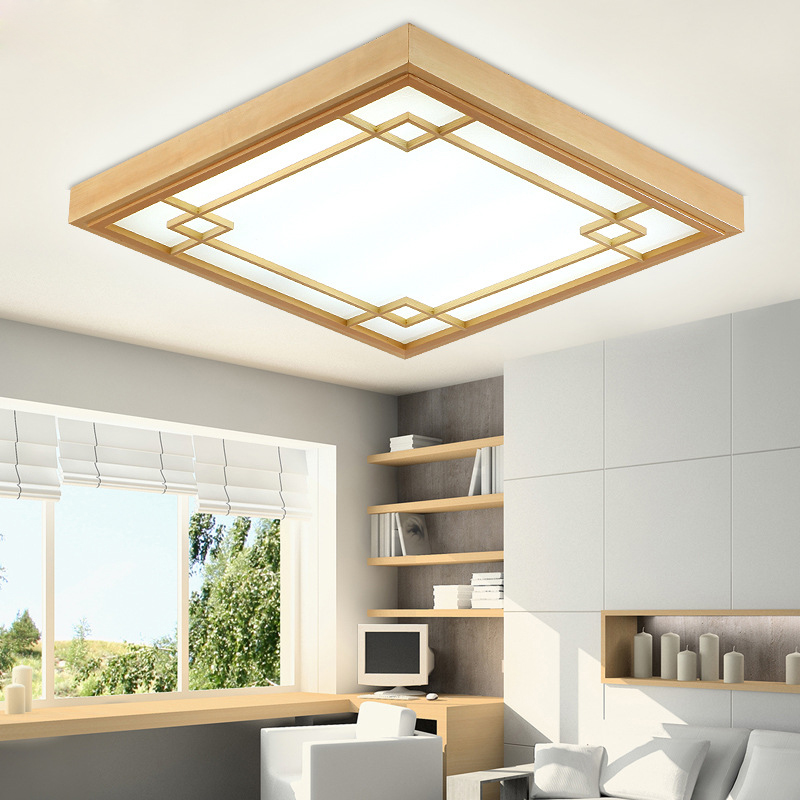 Chic Simple Ceiling Lights Sinfull Japanese Tatami Wood Led Ceiling Lamp Simple Bedroom Ultra