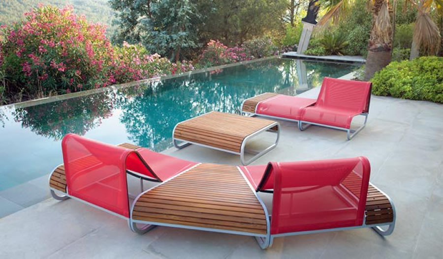 Chic Ultra Modern Patio Furniture Contemporary Outdoor Furniture Design Tandem Series Clima