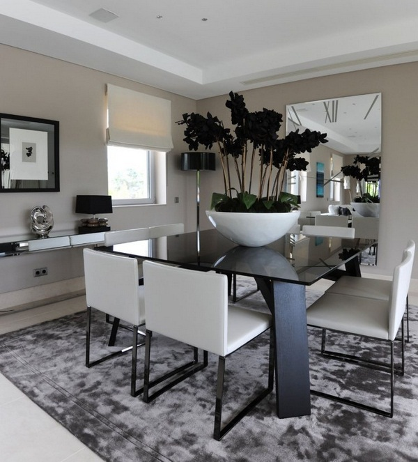 Chic White Dining Room Decor Great White Dining Room With Best Black And White Dining Room