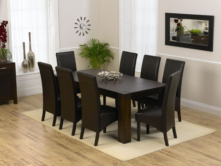 Creative of Black And Brown Dining Room Sets Dining Room Astounding 8 Dining Chairs Table And 8 Chairs For