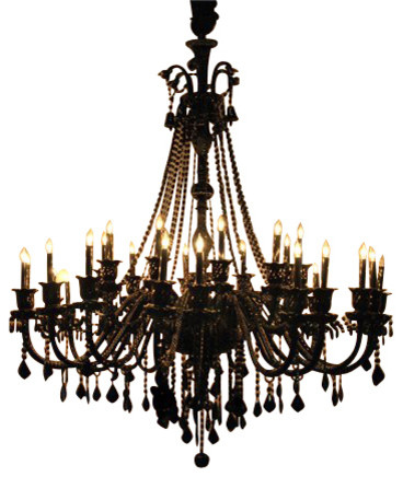 Creative of Black Crystal Chandelier Jet Black Crystal Chandelier With 30 Lights Traditional