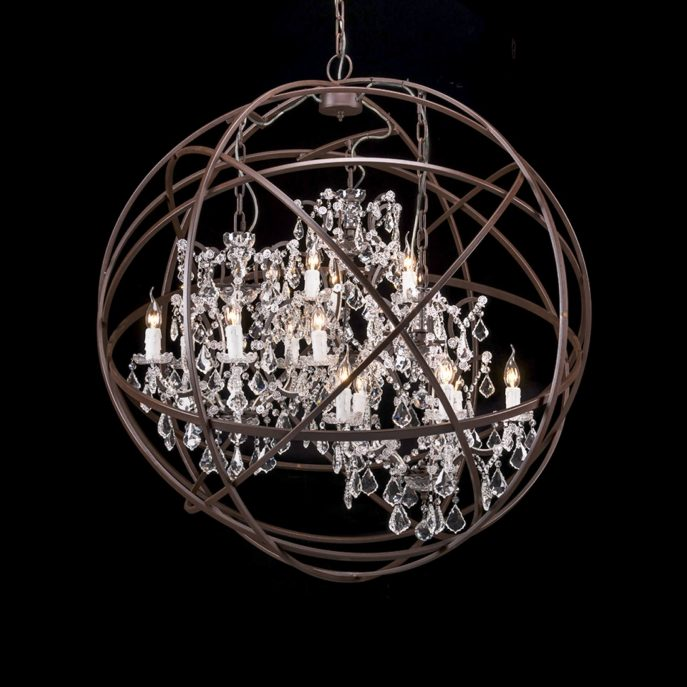 Creative of Black Sphere Chandelier Chandelier White Wood Orb Chandelier Brushed Nickel Orb