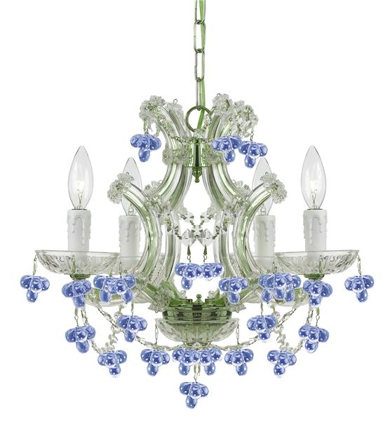Creative of Blue Crystal Chandelier Light Crystorama Crystorama Maria Theresa 4 Light Blue Crystal Mini