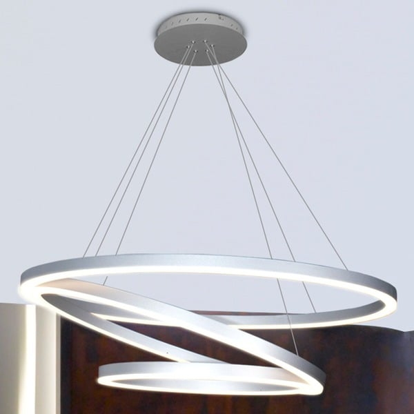 Creative of Circular Chandelier Lighting Vonn Lighting Vmc32500al Tania Trio 32 Inches Led Adjustable