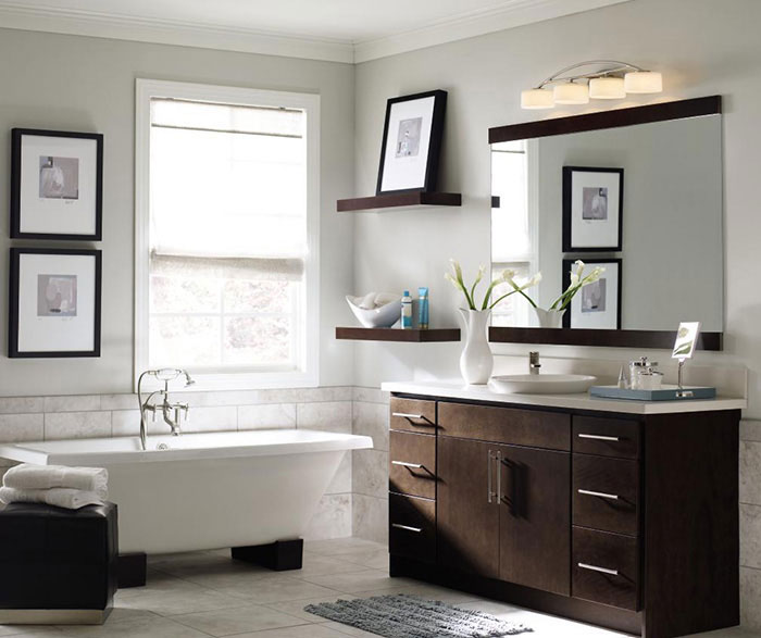 Creative of Contemporary Bath Cabinets Contemporary Bathroom Vanity Homecrest Cabinetry