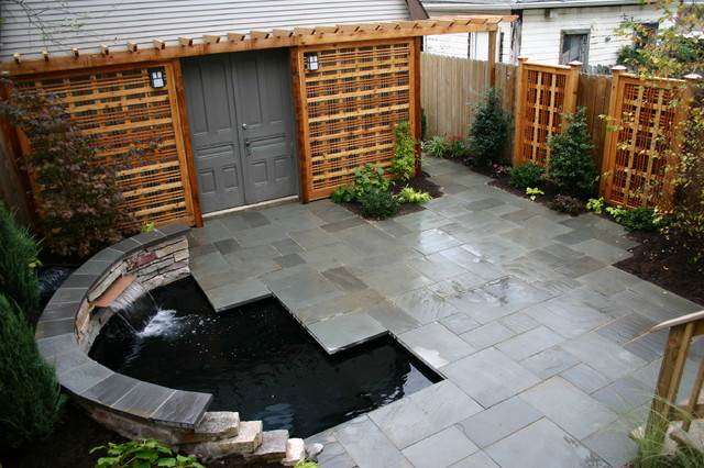 Creative of Contemporary Patio Ideas Tiny Yard With Koi Pond Contemporary Patio Chicago