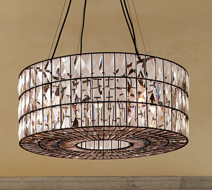 Creative of Crystal Light Fixtures Adeline Crystal Chandelier Pottery Barn
