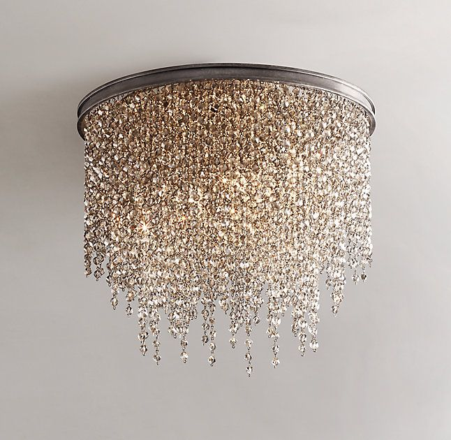 Creative of Crystal Light Fixtures Lighting Design Ideas Crystal Flush Mount Light Example Think I
