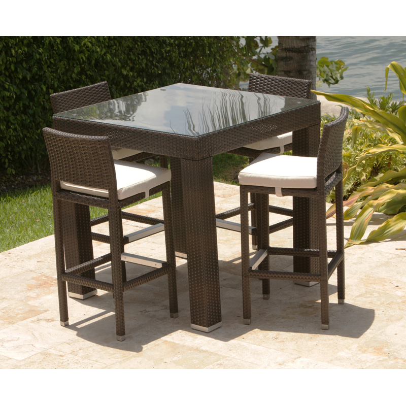 Creative of High Top Wicker Patio Set Brilliant Bar Height Patio Bistro Set Wicker Patio Bar Table Set
