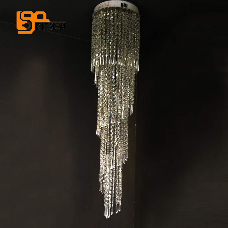 Creative of Long Crystal Chandelier Online Shop Luxury Design Long Crystal Chandeliers Led Light Ac110