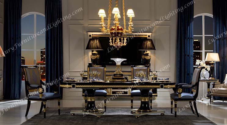 Creative of Luxury Dining Table And Chairs Italian Furniture Italian Dining Room Furniture Classic Italian