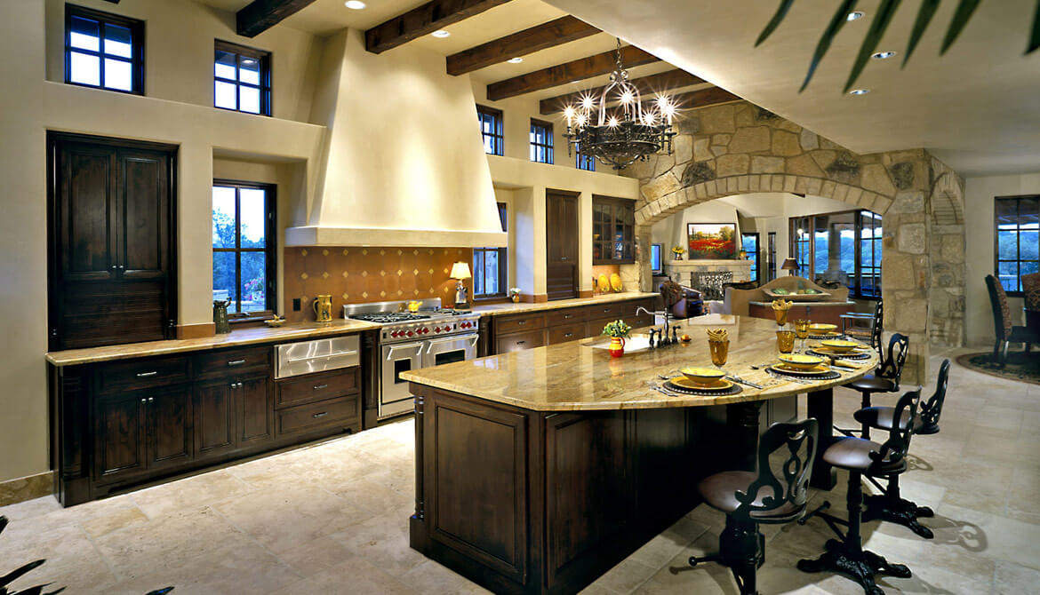 Creative of Luxury Kitchen Island Island Is Semi Circular With Seating On The Outside Facing The