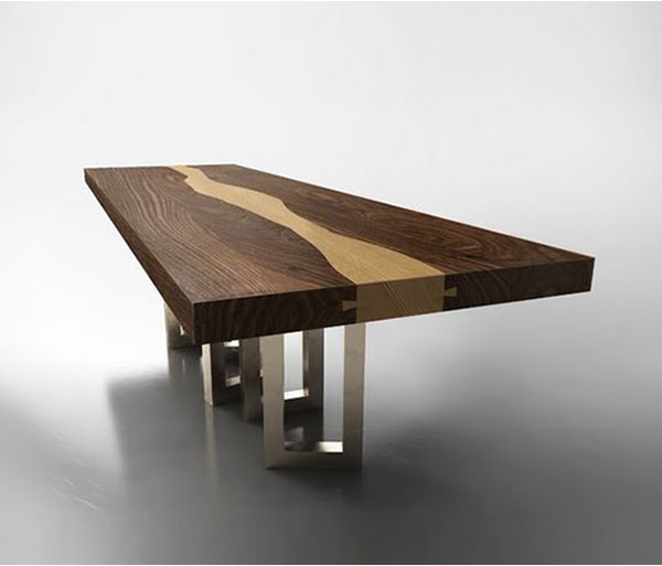 Creative of Luxury Wood Table Walnut Wood Table Il Pezzo Mancante Luxury Wood Table Design