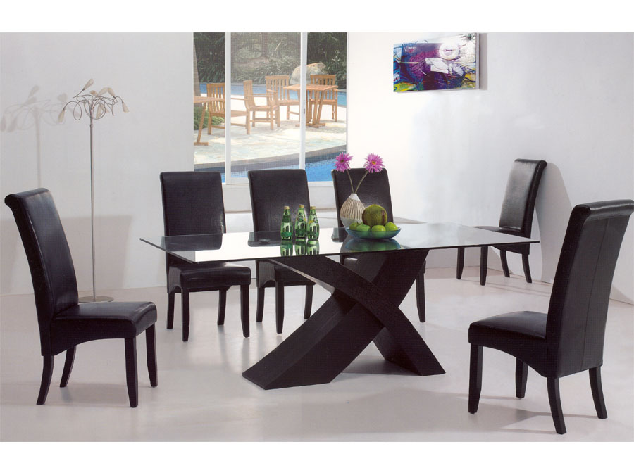 Creative of Modern Dining Table Set Modern Glass Dining Room Sets Cheerful And Harmonious Modern