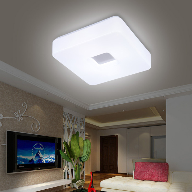 Creative of Popular Ceiling Lights Free Shipping Modern Led Flush Mount Surface Mounted Square Shape