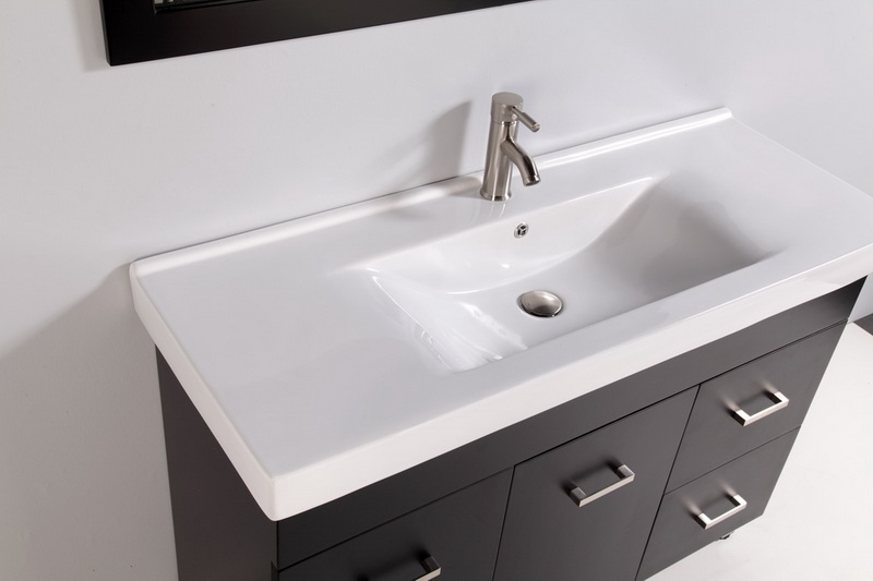 Elegant 48 Modern Bathroom Vanity Legion 48 Inch Modern Bathroom Vanity Espresso Finish