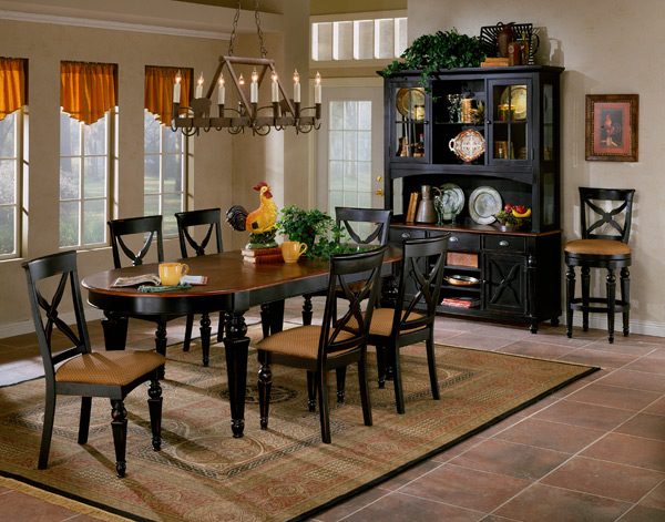Elegant Black Dining Set Northern Heights Dining Set Black Cherry Finish 4439dtbc7