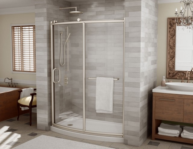 Elegant Contemporary Bathroom Showers Fleurco Roma Shower Doors Modern Bathroom Miami