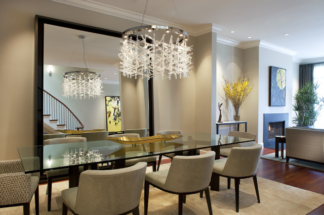 Elegant Contemporary Dining Room Table Centerpieces Dining ...