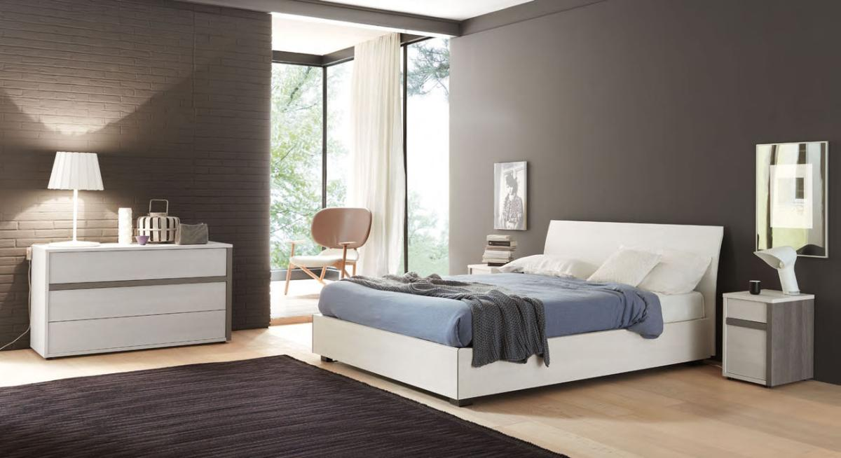 Elegant Contemporary Italian Beds Italian Wood Grain Complete Master Bedroom In Ivory And Grey