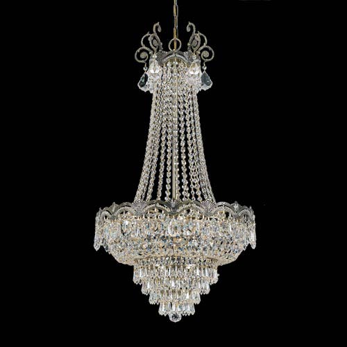 Elegant Crystal Chandelier Lighting Crystorama Lighting Group Majestic Historic Brass Eight Light