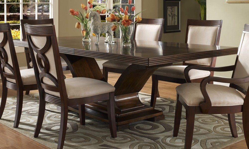 Elegant Dark Wood Dining Room Set Enchanting Dark Wood Dining Room Table And Chairs 80 For Small