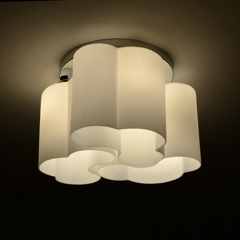 Elegant Decorative Ceiling Light Fixtures New Modern Flower Drum White Cloud Shade Led Ceiling Light Home