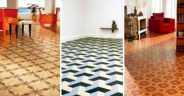 Elegant Designer Linoleum Flooring Contemporary Linoleum Eco Flooring Ideas For Modern Interior Design