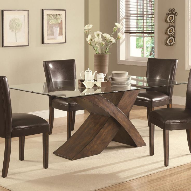 Elegant Elegant Wood Dining Table Stylish Glass Top Dining Table Blogbeen