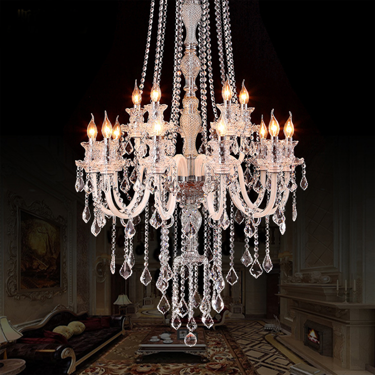 Elegant Large Ceiling Chandeliers Large Modern Crystal Chandelier For High Ceiling Extra Large