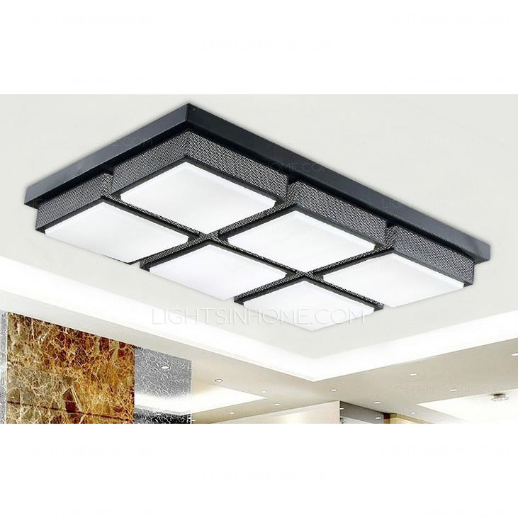 Elegant Long Kitchen Ceiling Lights Affordable Rectangular Acrylic Shade 287 Inch Long Led Kitchen