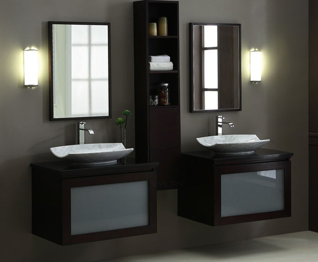 Elegant Modern Contemporary Bathroom Vanities Double Sink Contemporary Bathroom Vanity Set Penthouse15 Modern