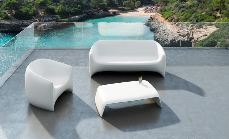 Elegant Modern Exterior Furniture Modern White Outdoor Furniture Interior Design