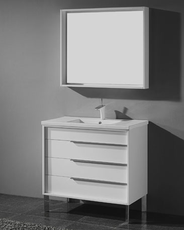 Elegant Modern White Bathroom Vanity Milano 30 Inch Modern White Bathroom Vanities Free Standing All