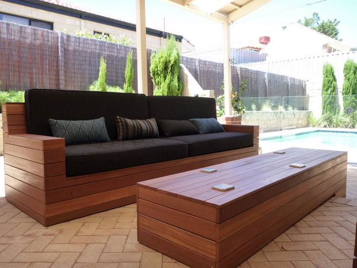 Elegant Modern Wood Patio Furniture Gorgeous Outdoor Sofa Wood Wonderful Wooden Outdoor Sofa Homemade