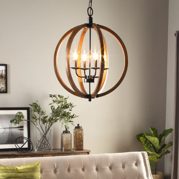 Elegant Orb Light Chandelier Vineyard Distressed Mahogany And Bronze 4 Light Orb Chandelier