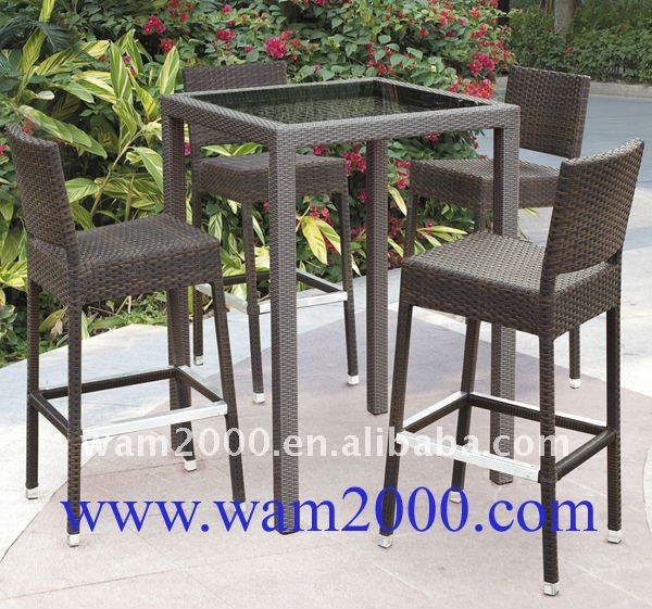 Elegant Outdoor High Table And Chairs Outdoor Rattan Bar High Table And Chairs For Garden Buy Bar High