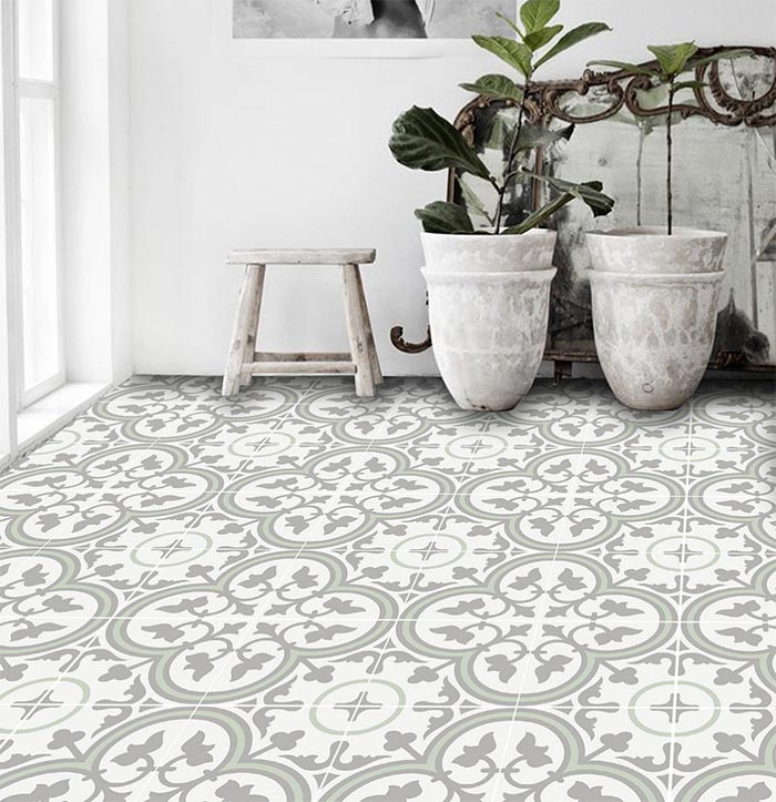 Elegant Patterned Vinyl Flooring Patterned Peel Stick Floor Tiles Designsponge
