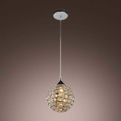 Elegant Single Light Chandelier Fashion Style Beaded Chandelier Clearcrystal Crystal Lights