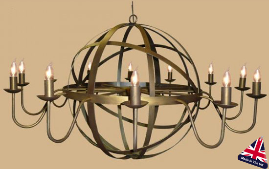 Elegant Very Large Chandeliers Archimedes Very Large 12 Light Wrought Iron Orb Chandelier 810 12