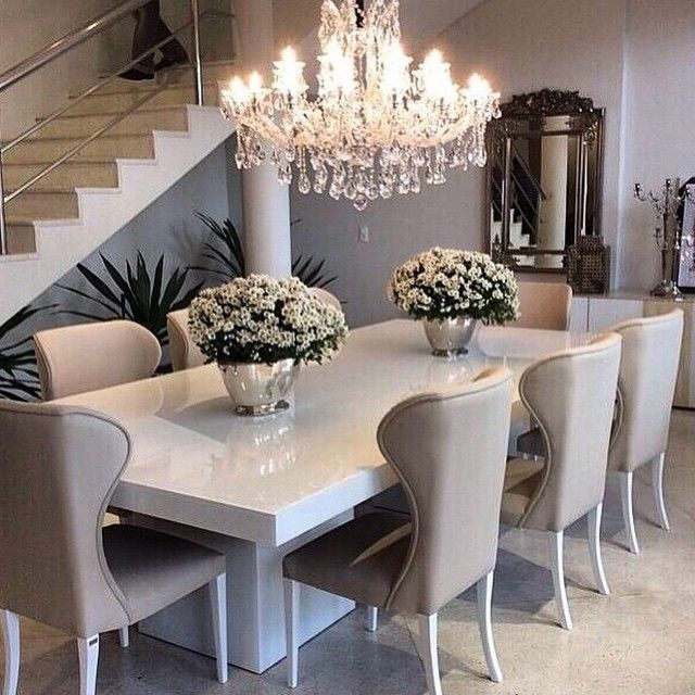 Elegant White Dining Table Decor Best 25 White Dining Table Ideas On Pinterest Dining Room Table