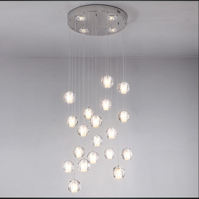 Fabulous Ball Chandelier Light Modern Minimalist Creative Meteor Crystal Ball Chandelier Led