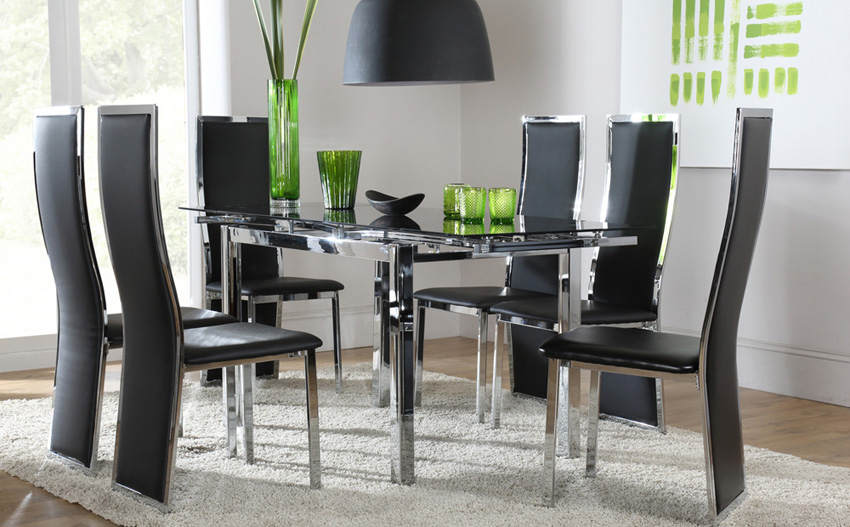 Fabulous Black Dining Table And Chairs Stunning Black Table And Chairs Set Chair Glass Dining Table And