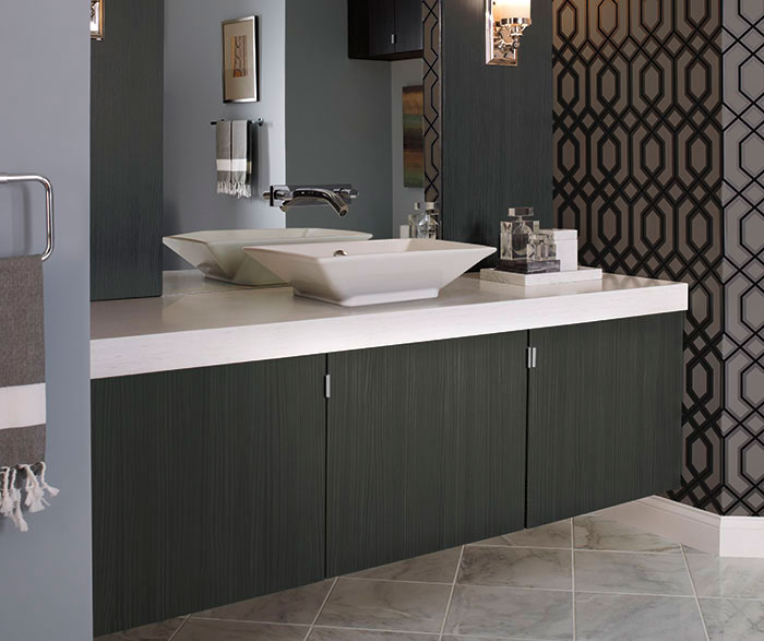 Fabulous Contemporary Bathroom Vanity Cabinets Contemporary Bathroom Vanity In Thermofoil Kitchen Craft Cabinetry